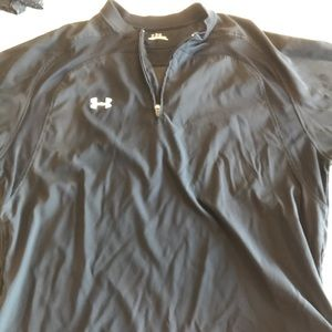 Under armour short sleeve 3/4zip top medium